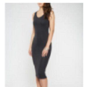 RainbowShops.com Soft Knit Midi Tank Dress Black S